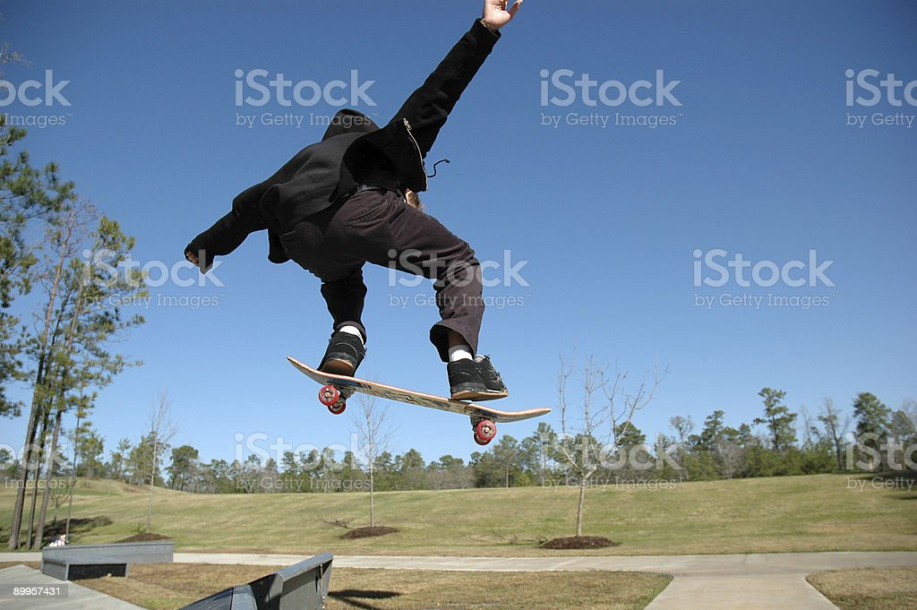 High Flying Teen stock photo