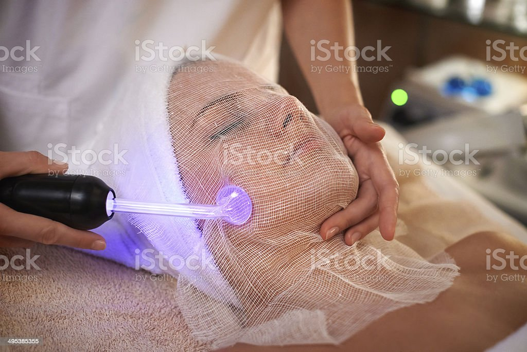 High Frequency treatment stock photo