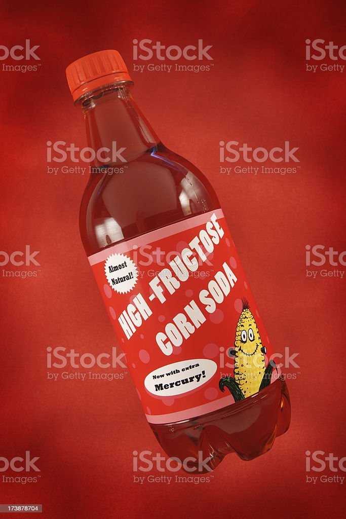 High Fructose Corn Syrup Soda stock photo