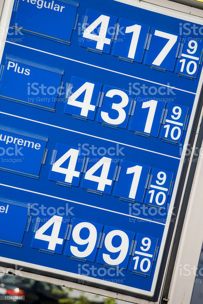 High Gas Prices royalty-free stock photo