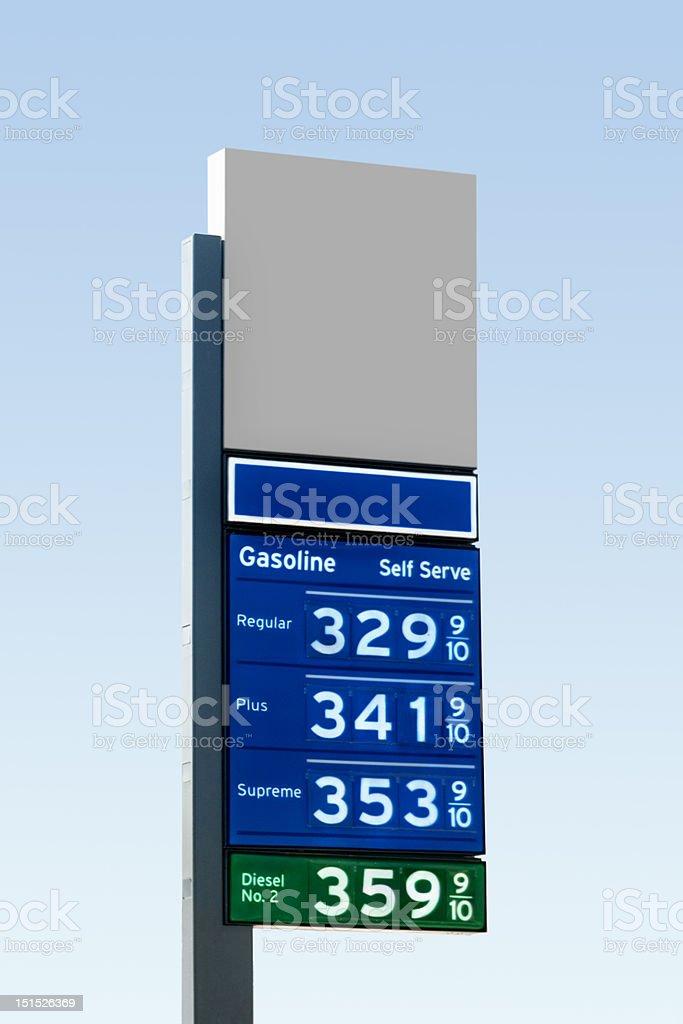 High Gasoline Prices stock photo