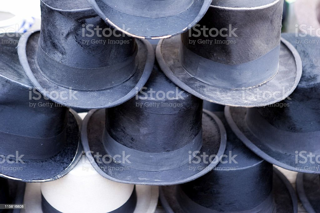 high hats stock photo