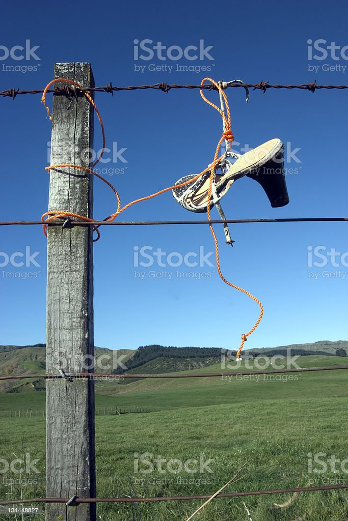 High Heals On Fence royalty-free stock photo
