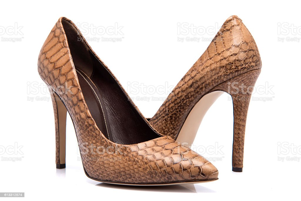 High Heel Leather Woman Shoes stock photo