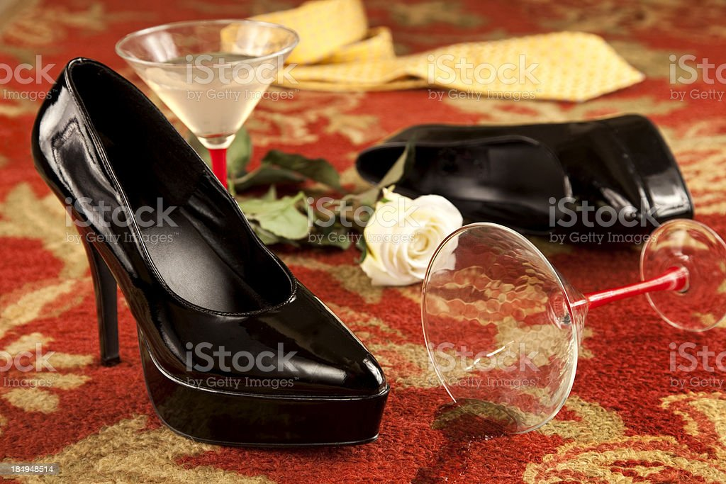 High Heel Romance stock photo