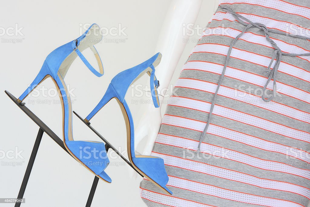 High Heel Shoe Fashion Dress Display royalty-free stock photo