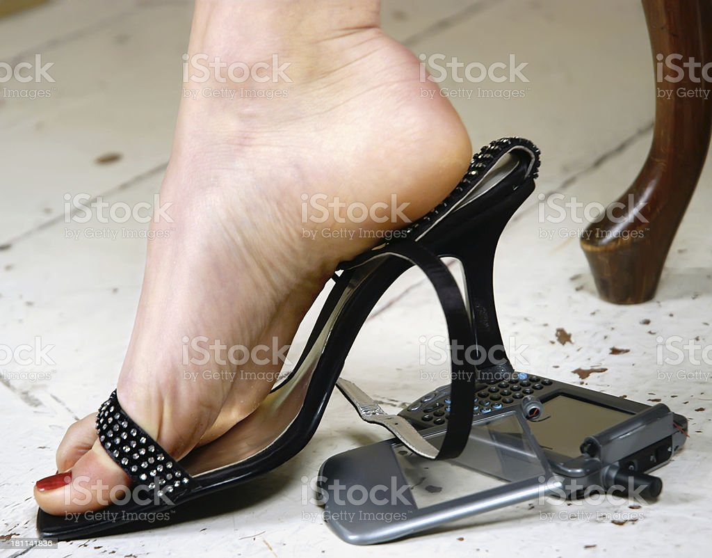 High Heel Smartphone Crush stock photo 181141836 | iStock