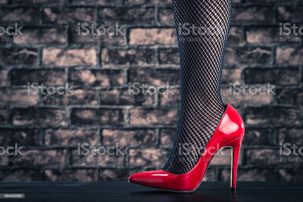 High heeled women stock photo