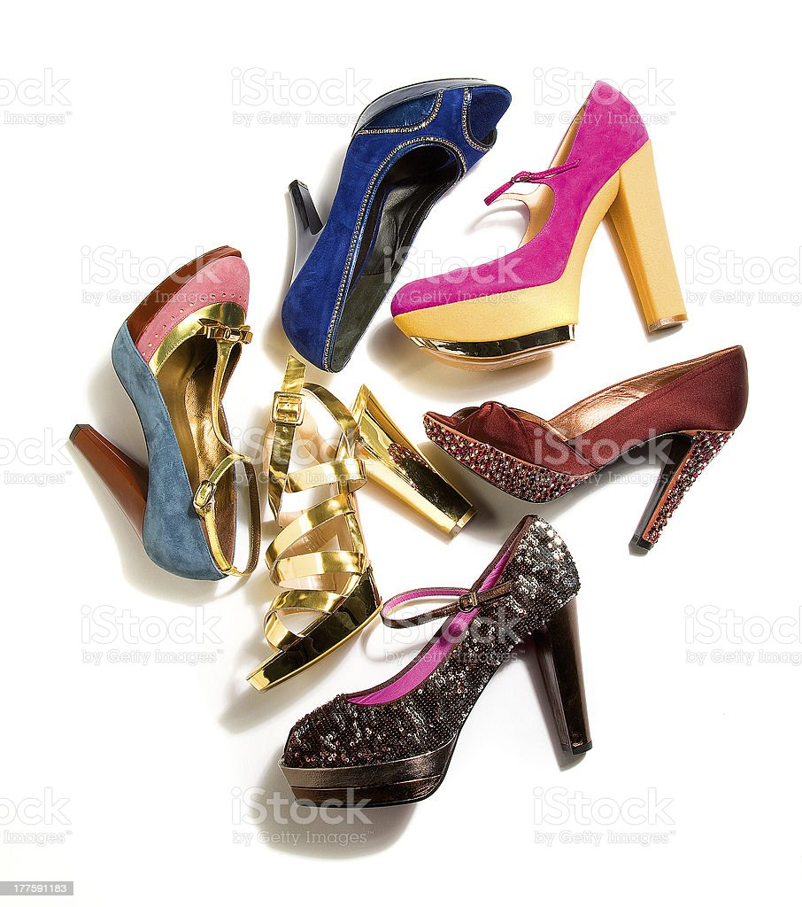 High heels fashion composition royalty-free stock photo