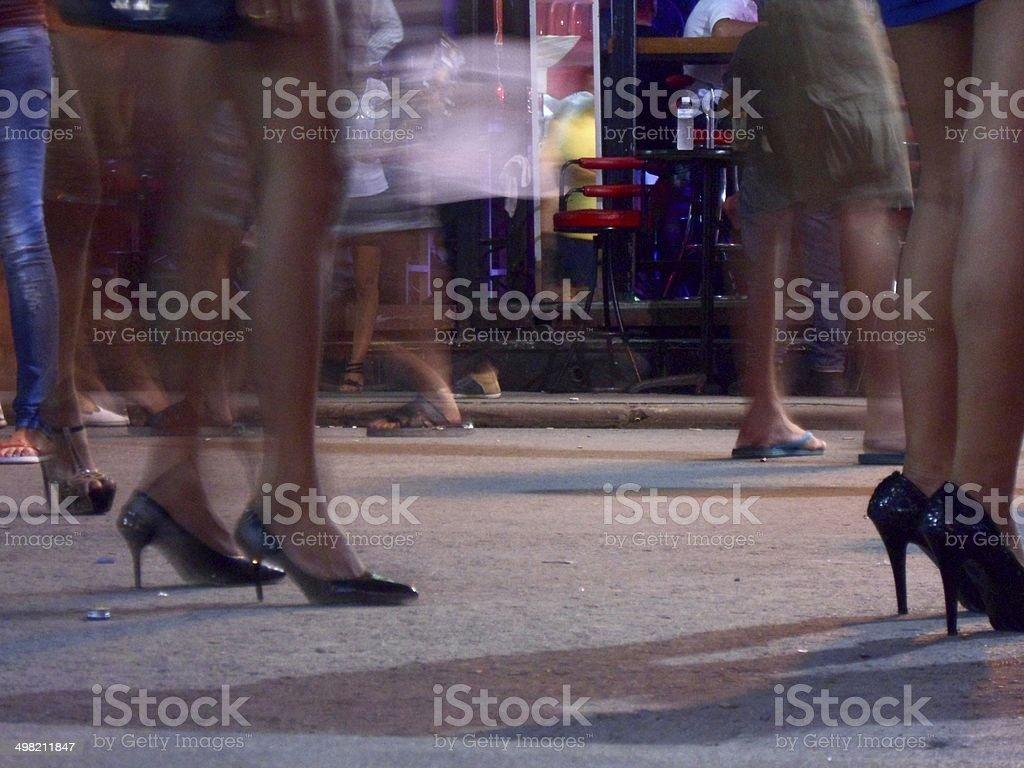 High heels in Bangla Road, Patong - Thailand stock photo