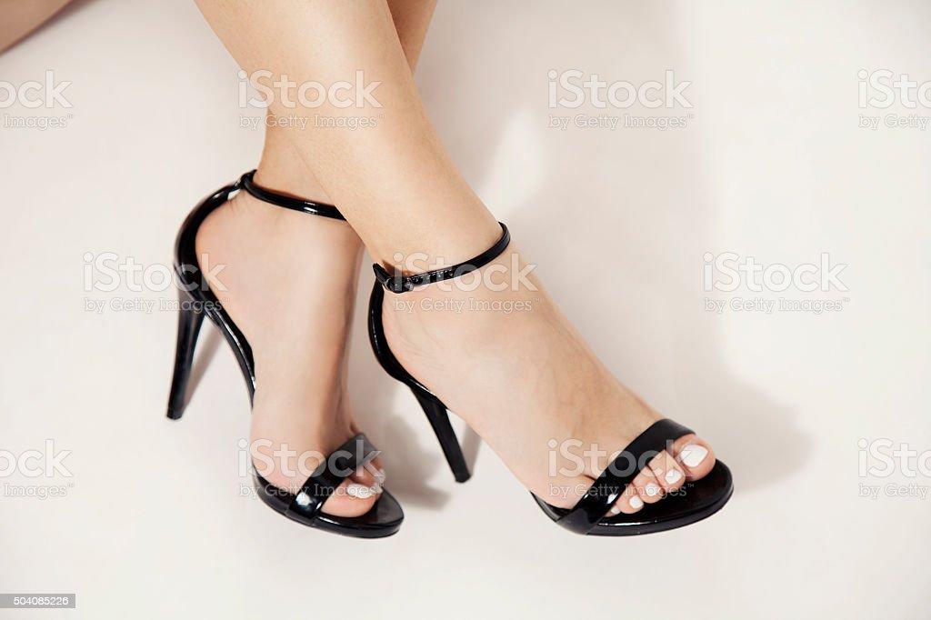 high heels stock photo