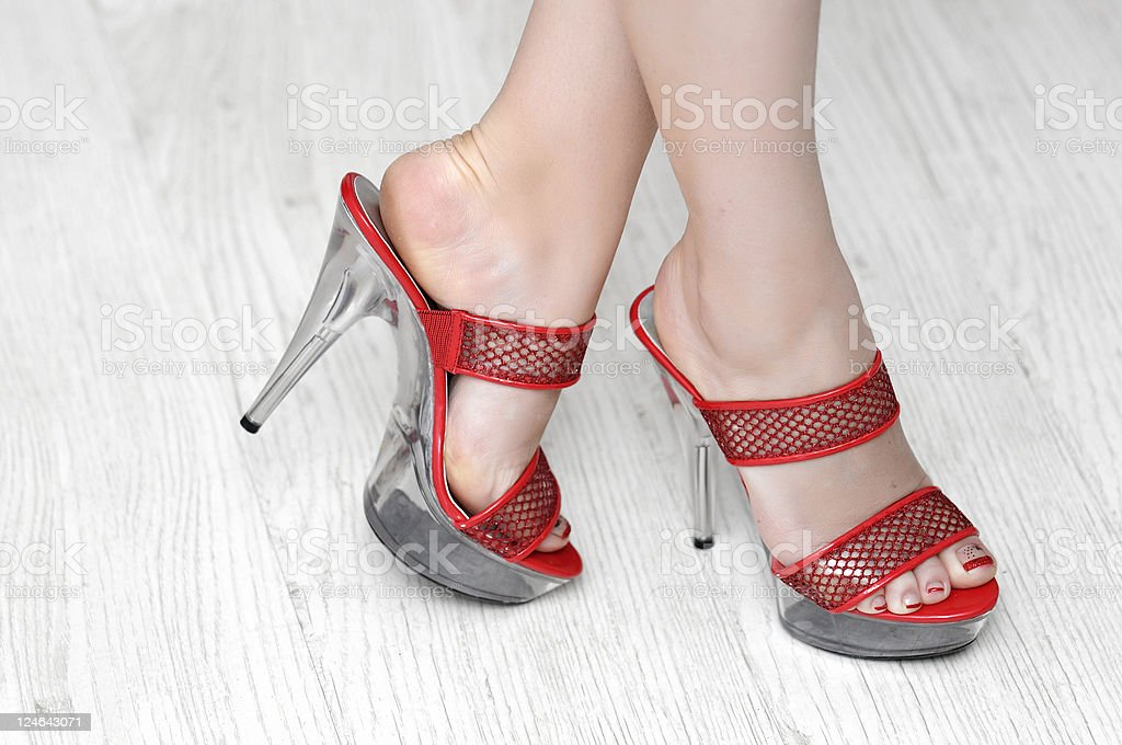 high heels platform royalty-free stock photo