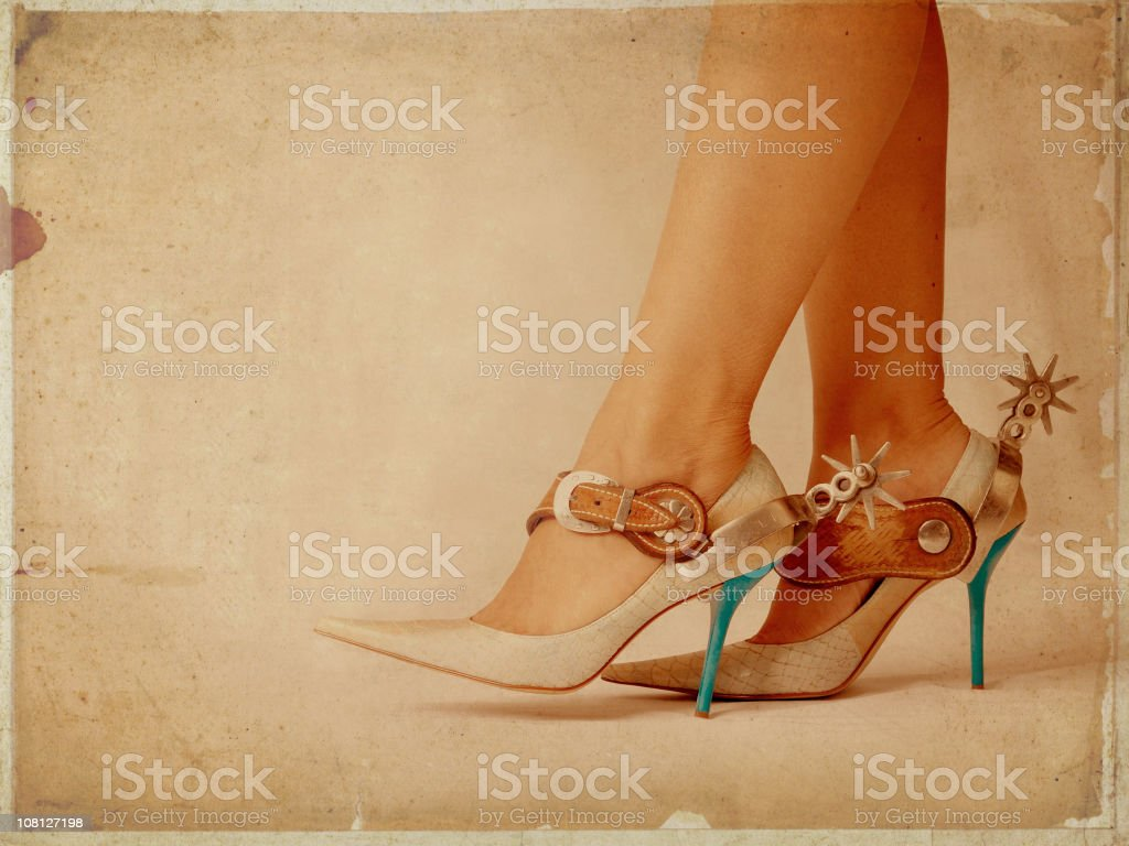 high heels with spur royalty-free stock photo