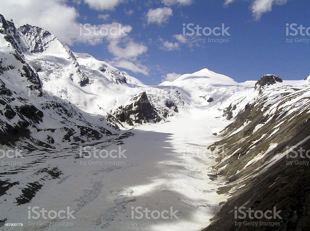 High hills in Austria stock photo