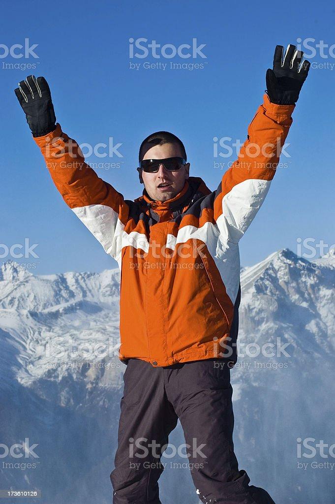 High in  European Alps stock photo