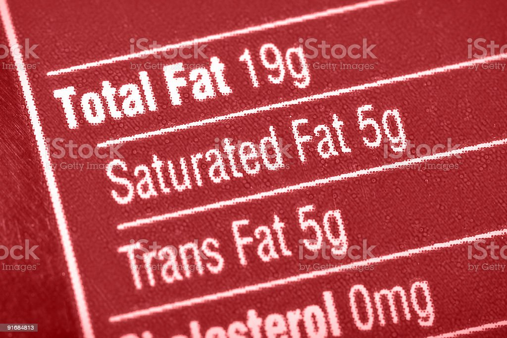 High In Fat stock photo