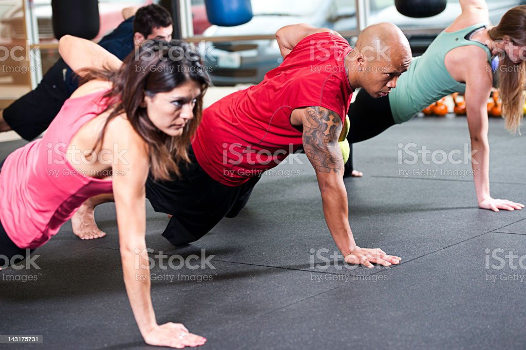 High Intensity Fitness kettle bell stock photo