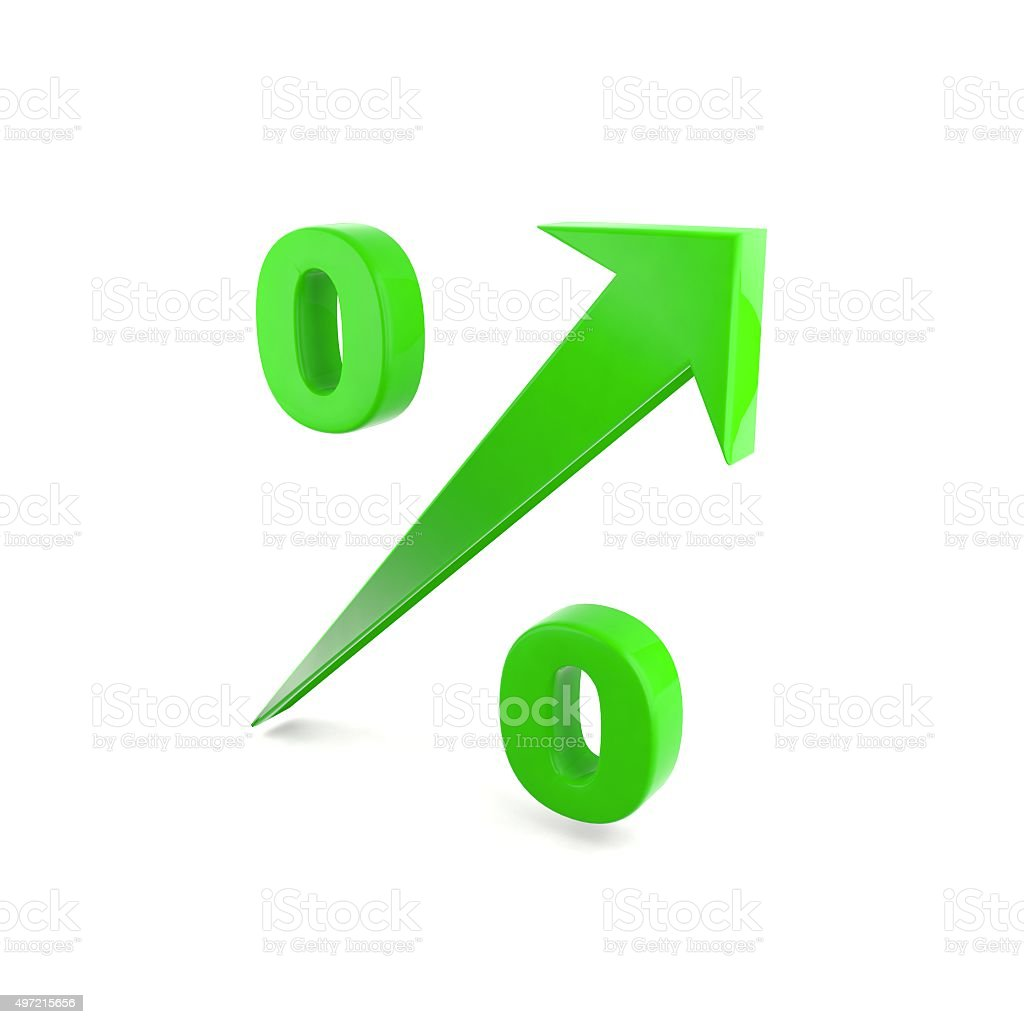 High interest rate stock photo