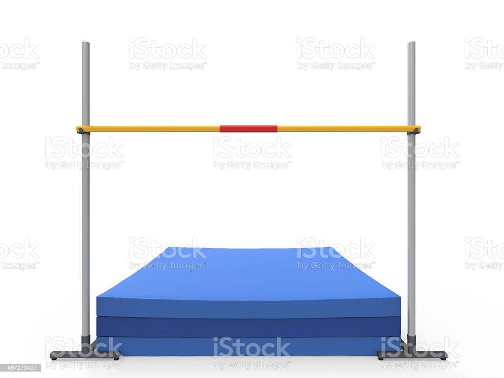 High Jump Landing Mat stock photo
