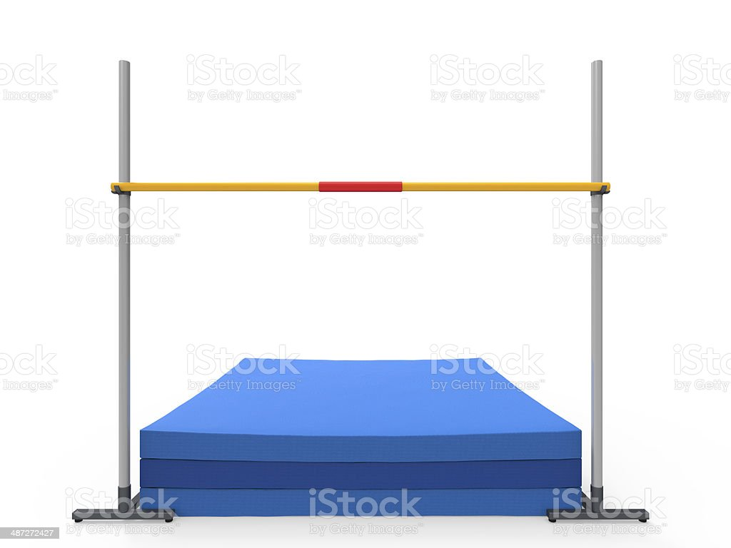 High Jump Landing Mat stock photo