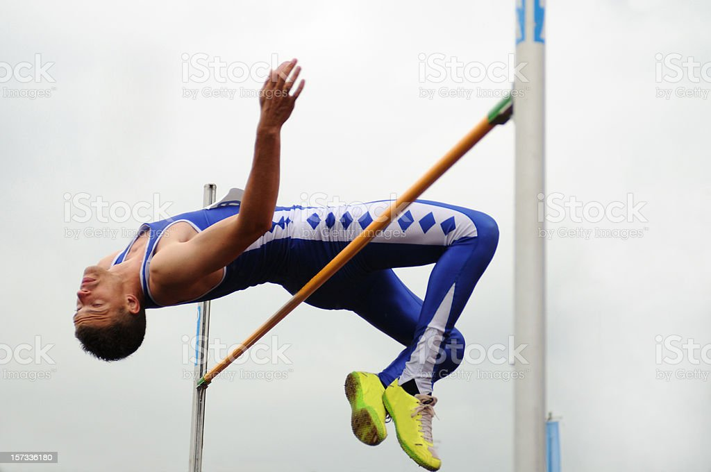 High jump stock photo
