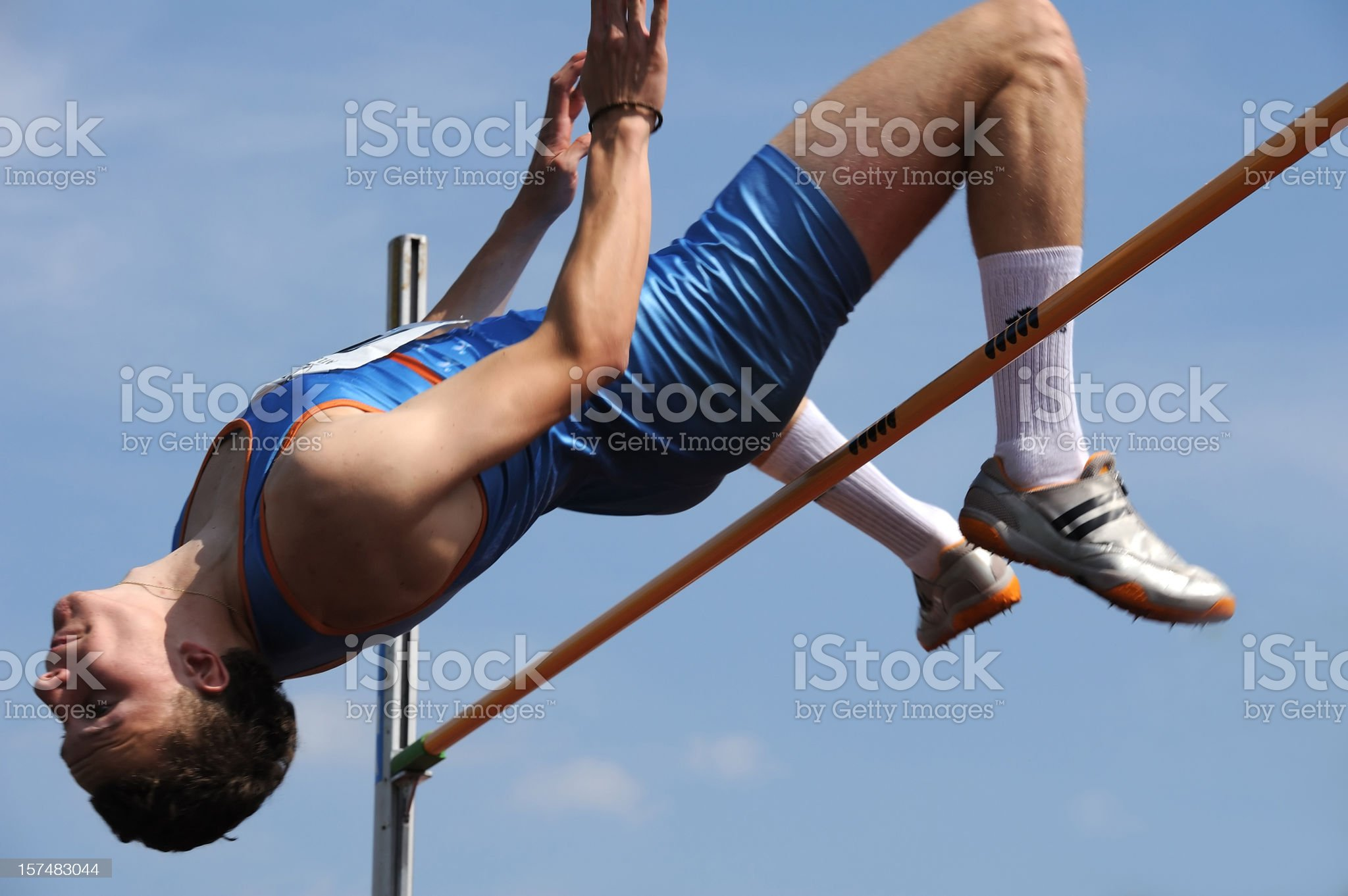 High jump royalty-free stock photo