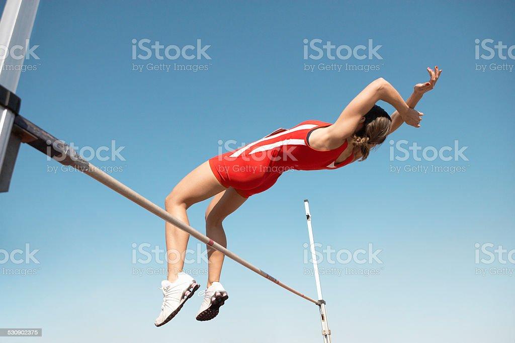 High Jumper stock photo