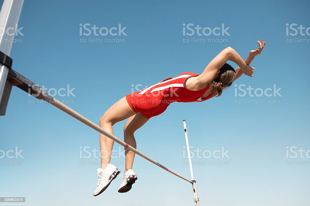 High Jumper stock photo