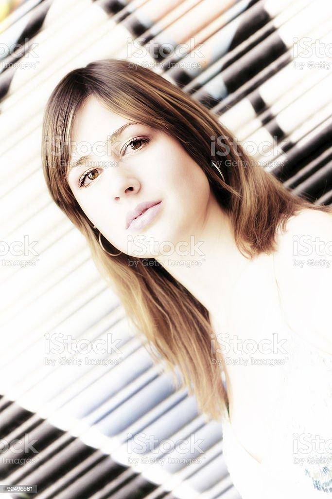 High Key Beauty stock photo