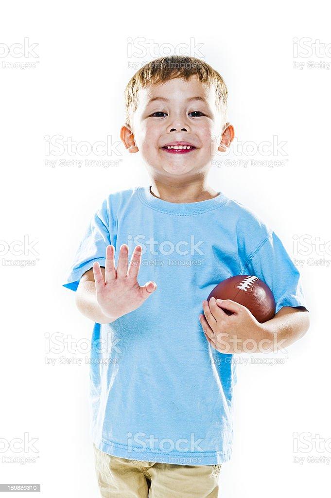 High Key Football Lad royalty-free stock photo