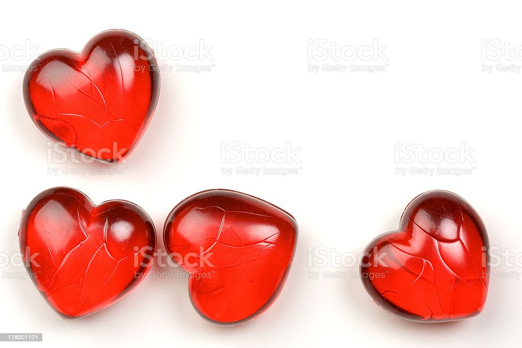 High Key Hearts royalty-free stock photo