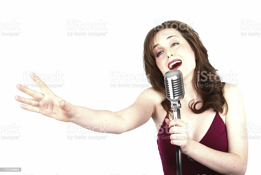 High Key Jazz Singer stock photo