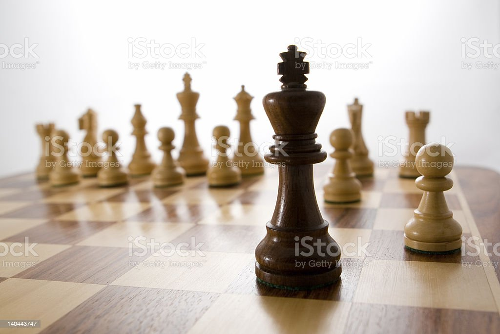High Key King royalty-free stock photo