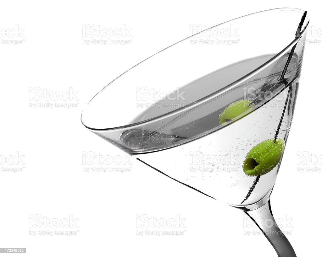 High key martini stock photo