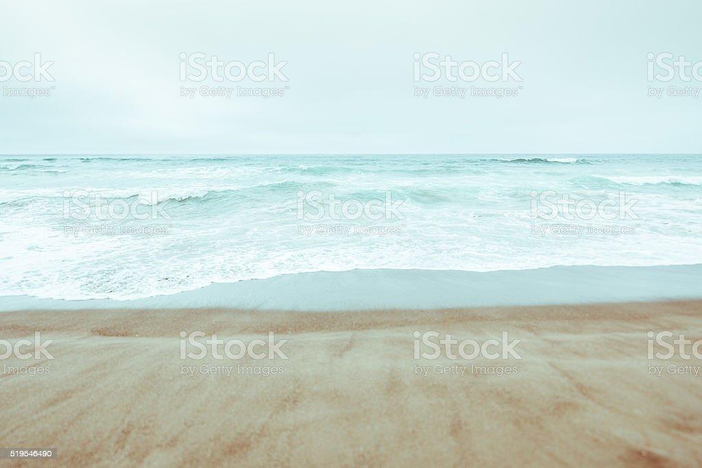 High key ocean vista in California, USA stock photo