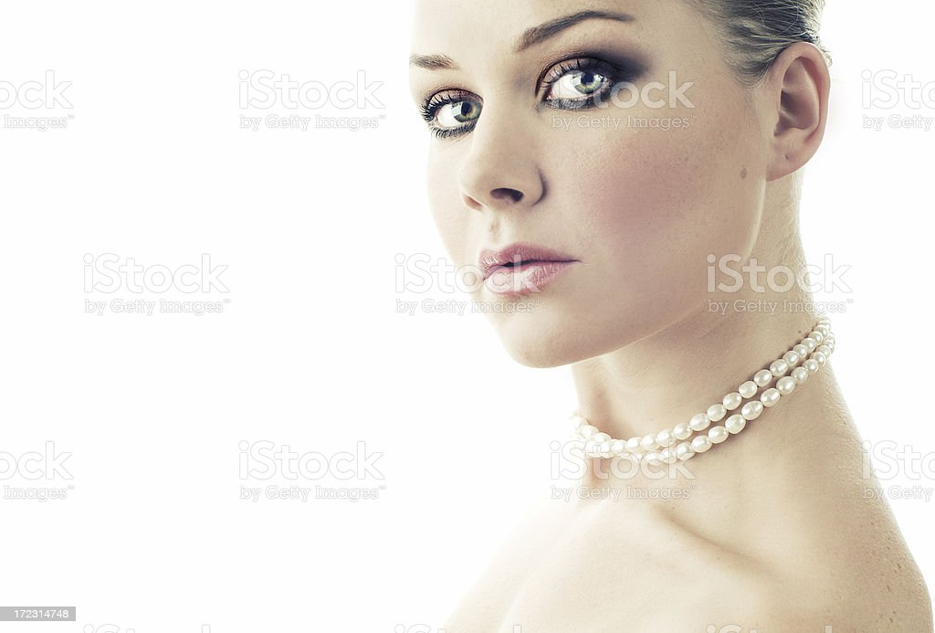 High key portrait of beautiful woman royalty-free stock photo