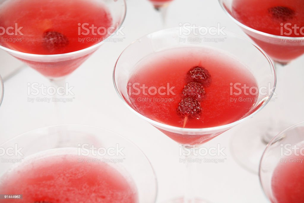 High Key Rasberry Cocktails stock photo