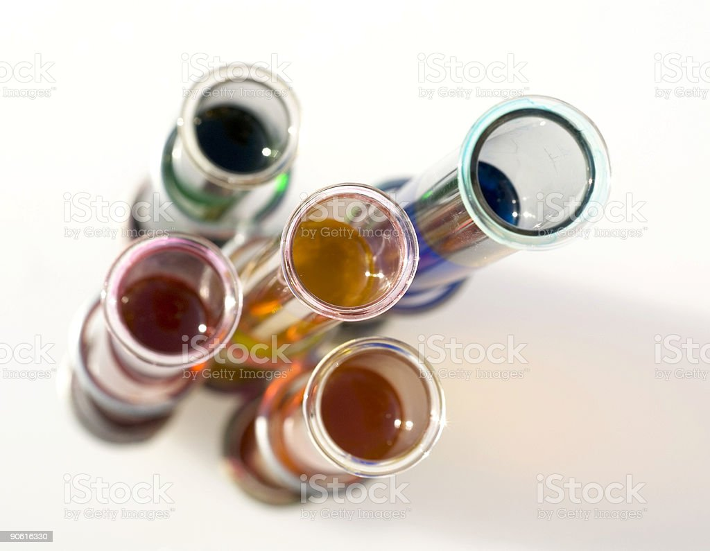 High Key - Test Tubes series with shallow DOF royalty-free stock photo