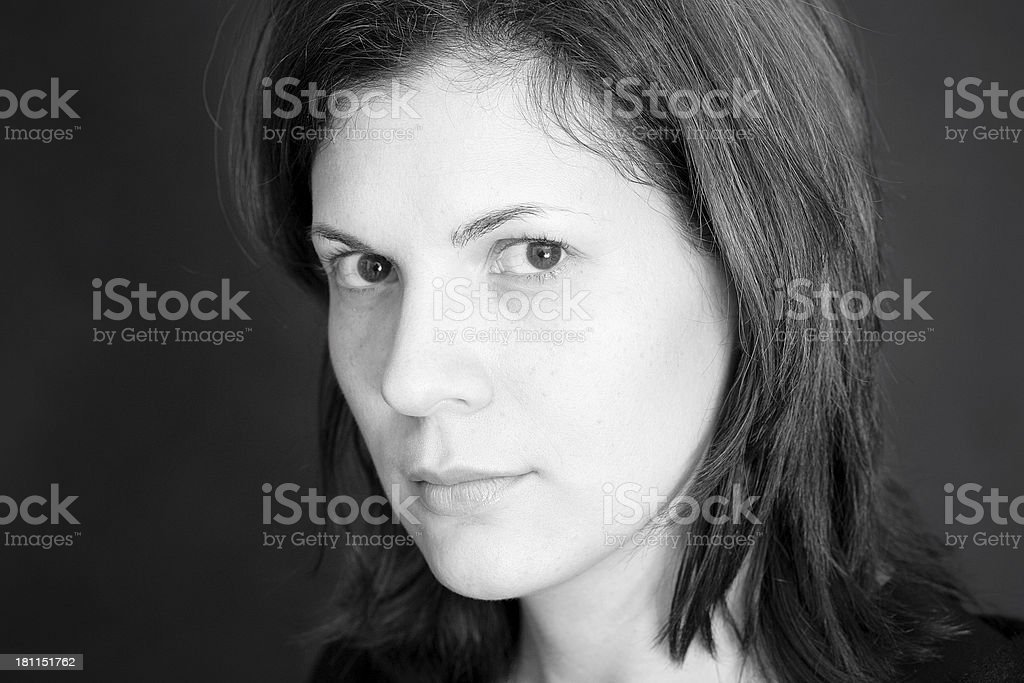High Key Young Woman royalty-free stock photo
