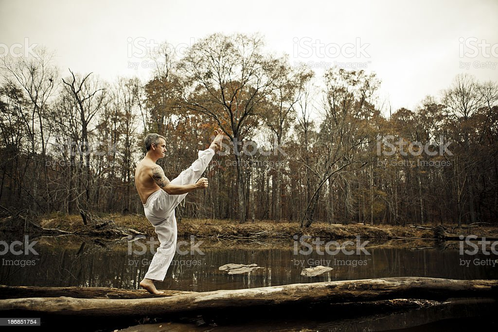 high kick royalty-free stock photo