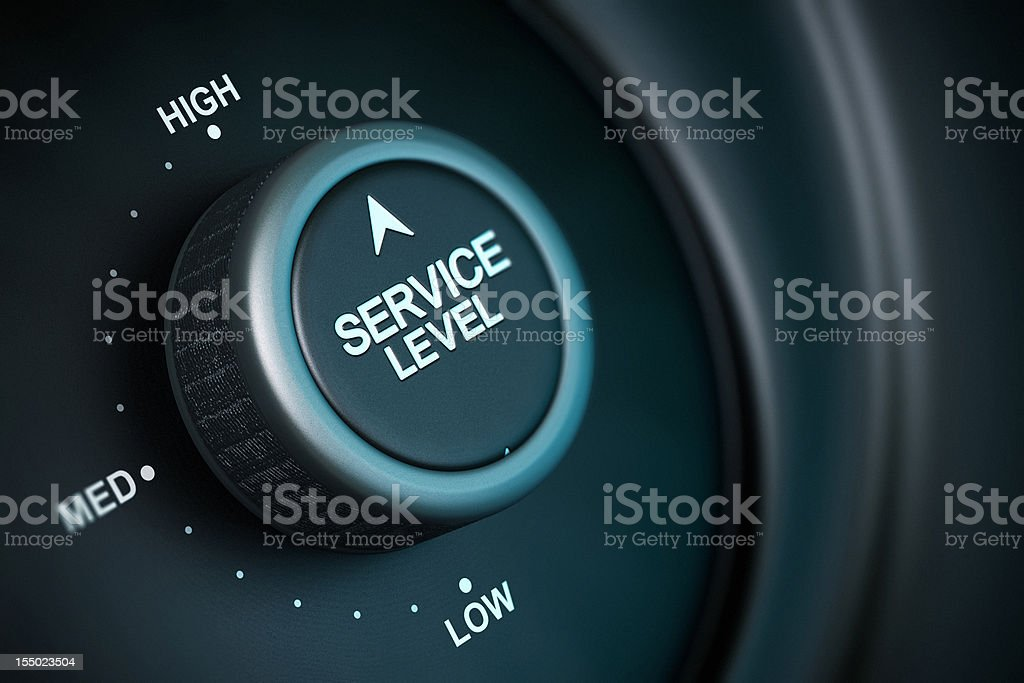high level of service stock photo