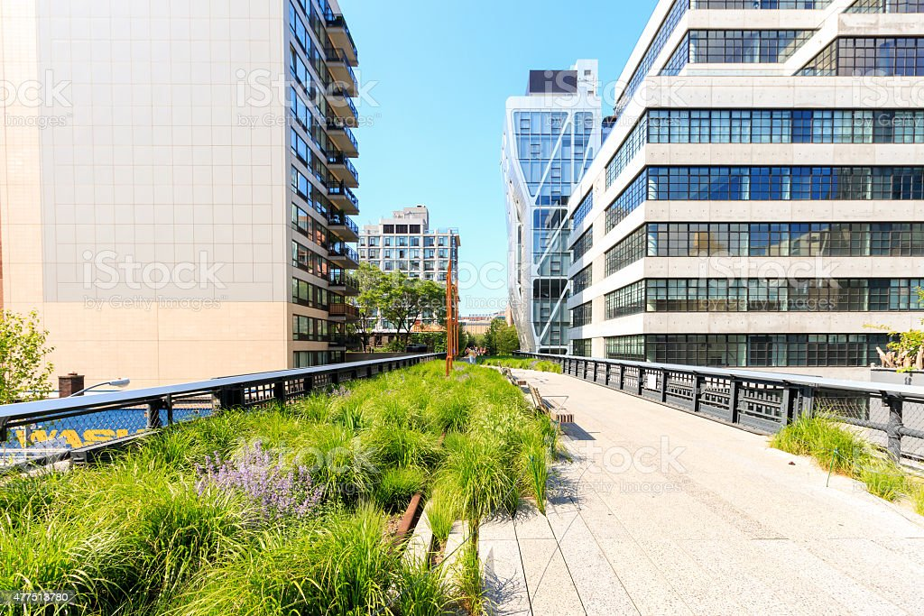 High Line in New York City - Spring stock photo
