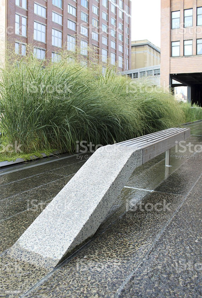 High Line.  New York City. Elevated pedestrian Park royalty-free stock photo