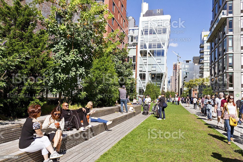 High Line Park cityscape NYC # 5 XXL stock photo