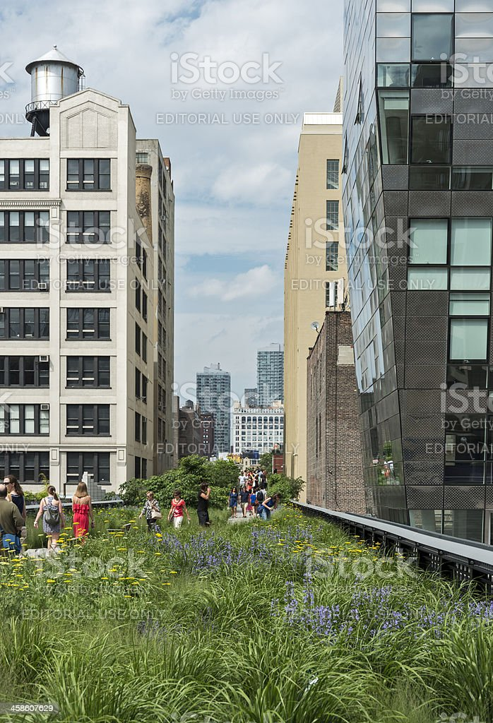 High Line Park in Manhattan stock photo