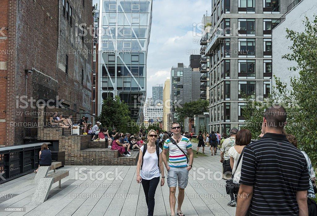 High Line Park in Manhattan stock photo