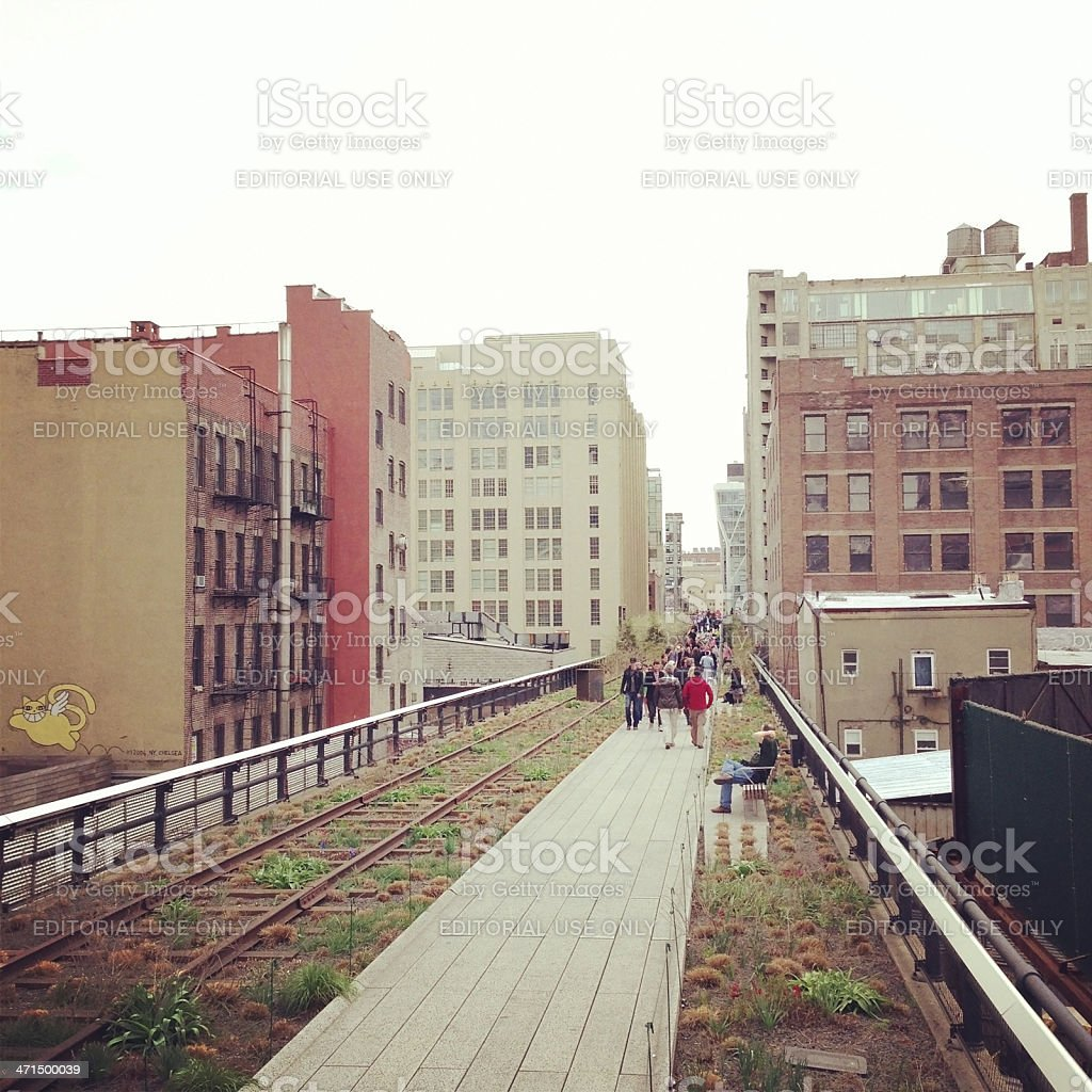 High Line Park In New York City royalty-free stock photo