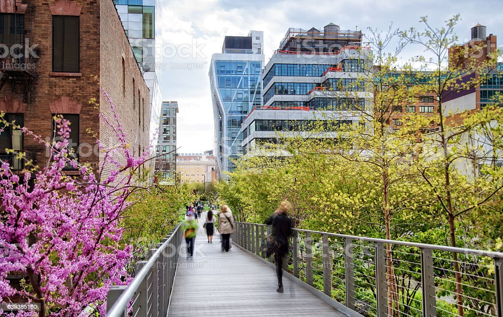 High Line Park, New York City stock photo