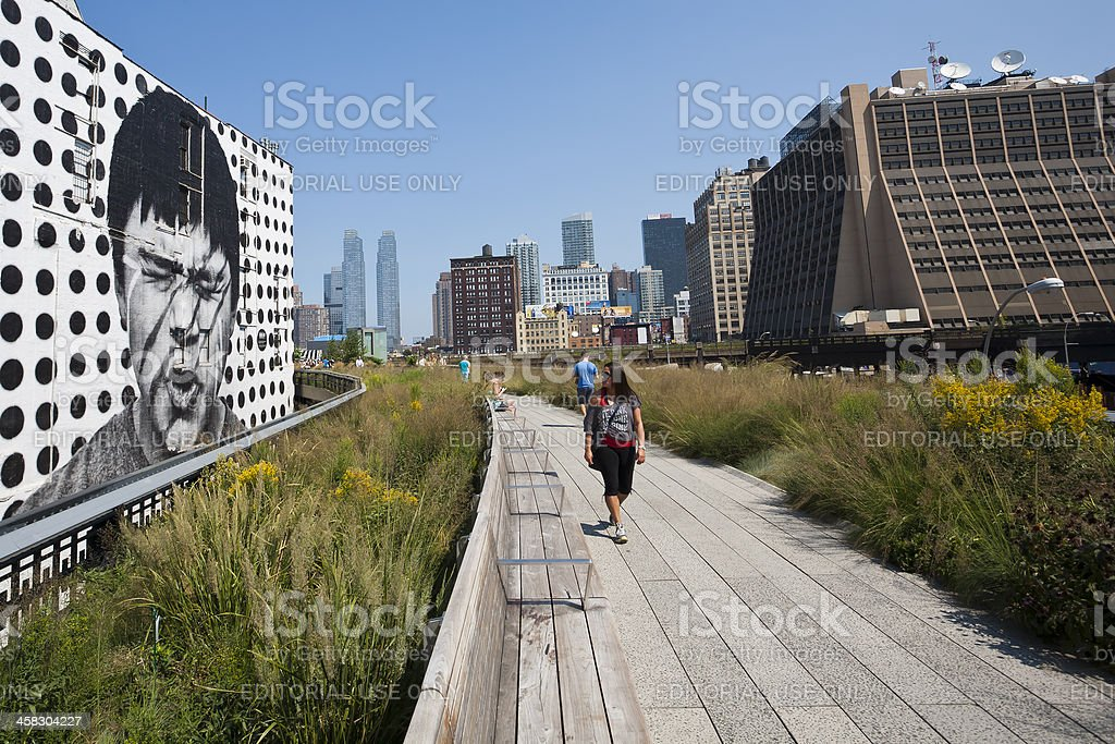High Line Park, New York stock photo