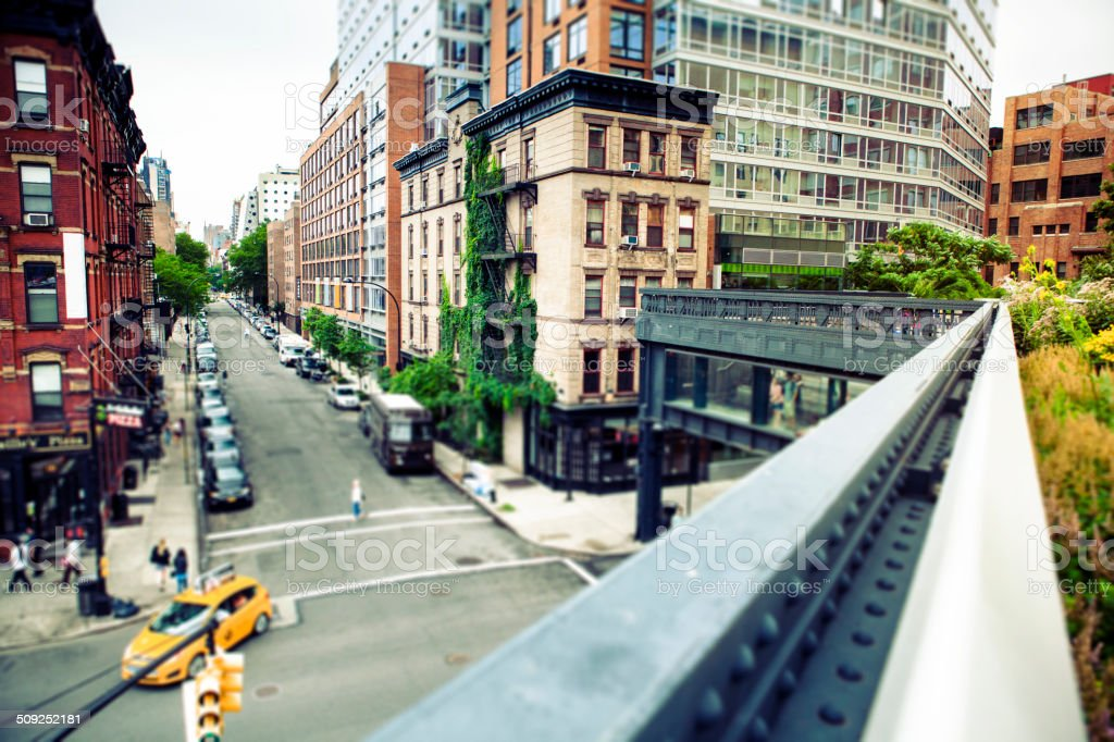 High Line Park New York stock photo